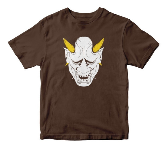Playera Demonio Japones Oni Mascara Demon Anime Manga M360