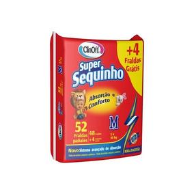 Fralda Infantil Clin Off C/52 Super Sequinho Mega M