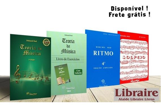 Combo Teor Música 5a Ed + Livro Exer + Ritmo + Solfejo B Med