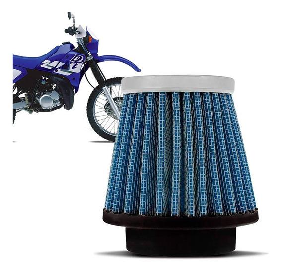 Filtro Ar Esportivo Inbox Rci Yamaha 43mm Dt200 Dt180 Azul