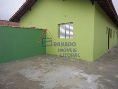 Casa Em Mongaguá Litoral Sul, 2 Dormitórios, Use Seu Fgts
