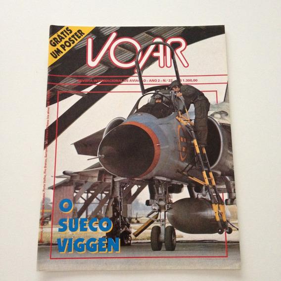 Revista Internacional De Aviação Voar O Sueco Viggen N°22