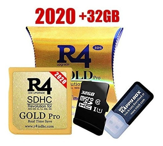 R4 Sdhc Gold Pro 2019 Ds 300 Jogos 32gb