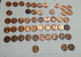 50 Moedas Estados Unidos Cent Lincoln De 1964 A 2018 Lote #3