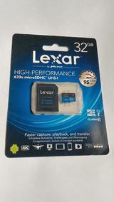 Cartão Micro Sd Lexar 32gb 633x 95mb/s Class 10 4k Gopro 4