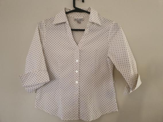 Camisa A Lunares Elastizada Importada 17072020