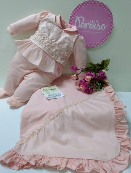 Saida Maternidade Luxo Paraiso Moda Bebe Menina Macacao 8485