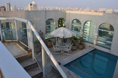 Cobertura Com 4 Dormitórios À Venda, 600 M² Por R$ 9.470.000 - Moema - São Paulo/sp - Co0070