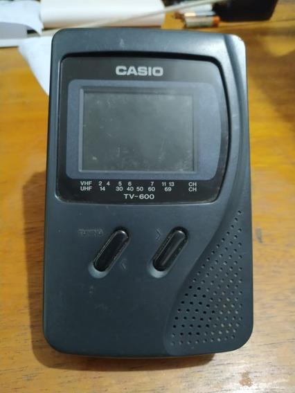Mini Tv Casio Televisão Analógica Antiga Portátil