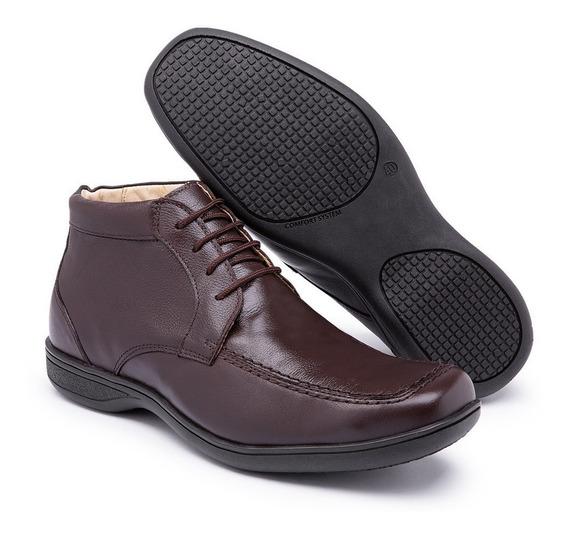 Sapato Social Masculino Conforto Anatômico Anti Stress Ortop