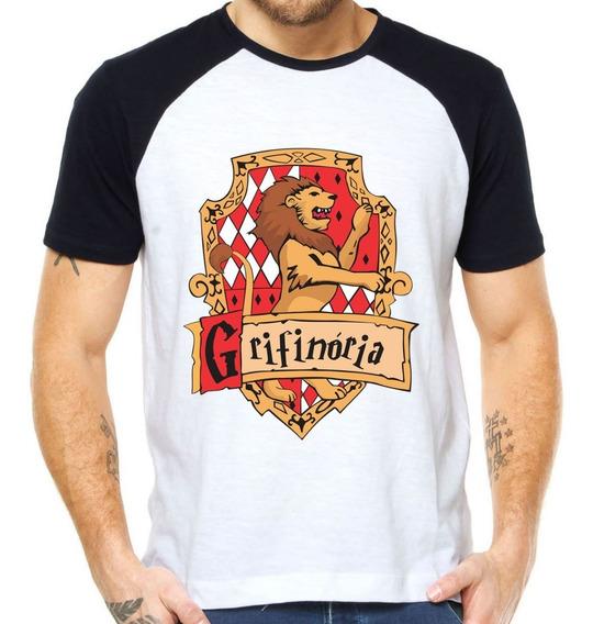 Camisetas Grifinoria Escudo Hogwarts Brasão Harry Potter Hp