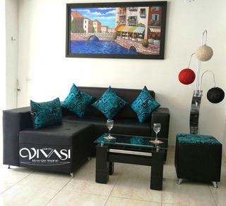 Groovy Sofa En L Negro Moderno Todo Para Hogar Y Muebles En Squirreltailoven Fun Painted Chair Ideas Images Squirreltailovenorg