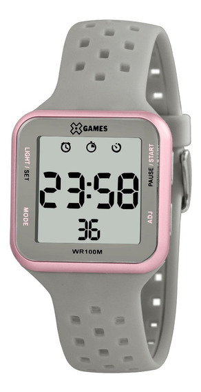 Relógio X-games Feminino Digital Xlppd034 Bxgx Cinza Rosa