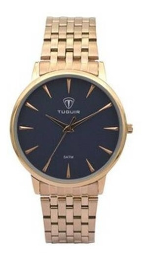 Relógio Feminino Tuguir Analógico 5041 Rose E Azul