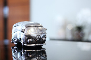 (novo) Estátua Decoração Miniatura Automóvel Kombi Antiga