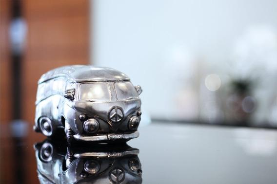 Estátua Enfeite Decoração Miniatura Automóvel Kombi Antiga