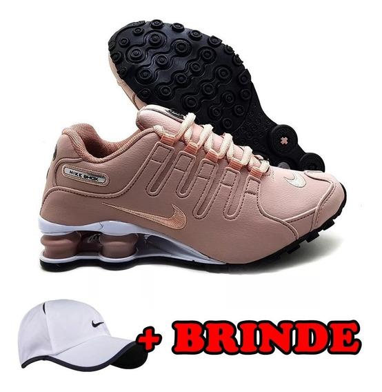 Tenis Nike Sxhox Nz Rosa Branco Unissex 4 Molas Promoção Top