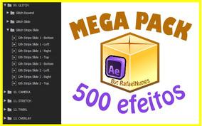 Mega Pack 500 Efeitos Para After (50%off Limitado!!!)