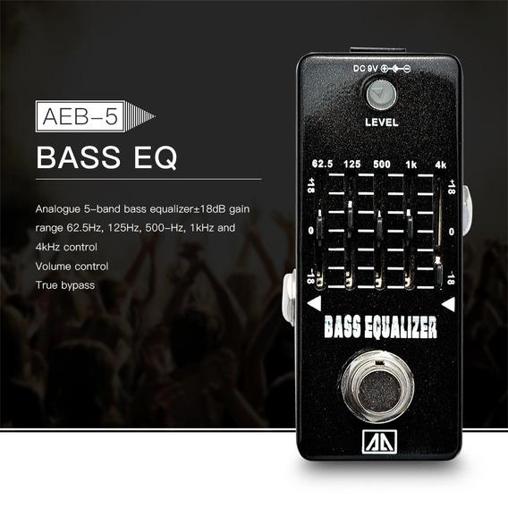 Aroma Aeb-5 5- Banda Gráfico Eq Baixo Guitarra Equalizador E