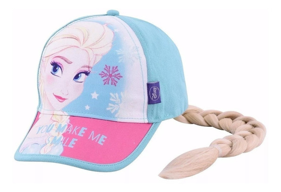 Gorro Visera Footy Frozen Elsa Aplique Trenza Fty Calzados