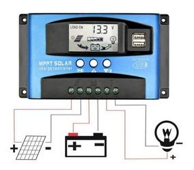 Controlador Carga Solar 12v 24v 100a Envio Imediato Mppt