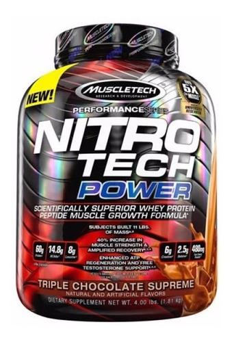 Proteina Muscletech Nitrotech Power 4 Libras (1.81 Kg)