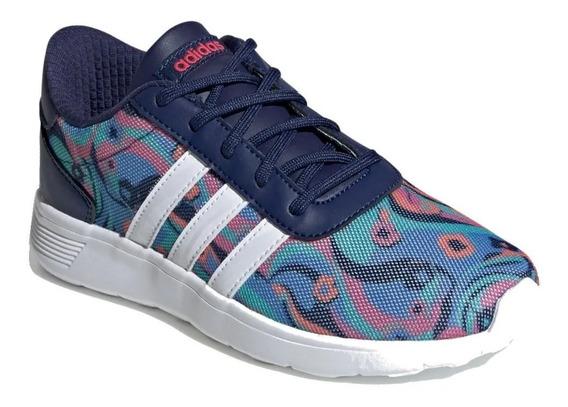 Tenis adidas Mujer Azul Lite Racer K Ee8563