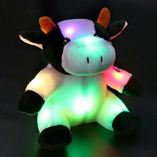 Bstaofy Glow Vaca Lechera Del Ganado Relleno Ligero Animal L