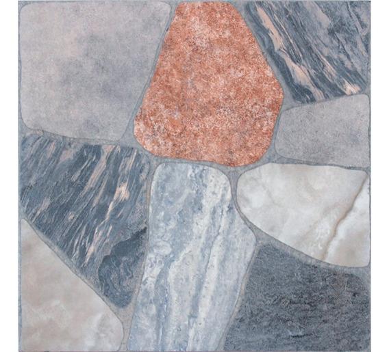 Cerámica Piso Y Pared Imitación Piedra Laja Gris Mate 45x45