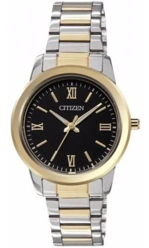 Reloj Citizen Para Dama Plateado Con Dorado El3064-57e