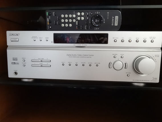 Receiver Home Theater-sony Str-de597 - 6.1 + Sub-ativo + Cai