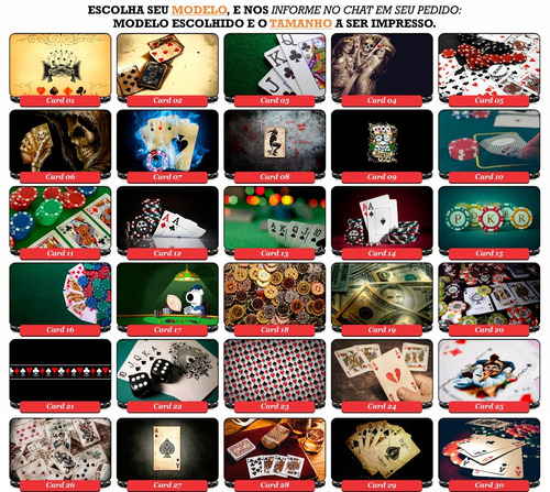 Decalque Adesivo Cartas De Baralho Laptop Pc Ipad Skate telefone Poker-SKU2910