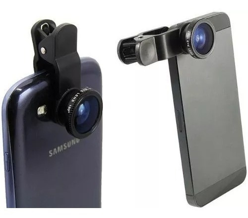 Lente Fisheye iPhone iPad Galaxy Tablet Universal