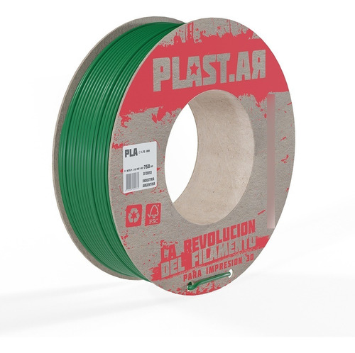Imagen 1 de 1 de Filamento Pla Para Impresora 3d Plastar  750g  Icutech