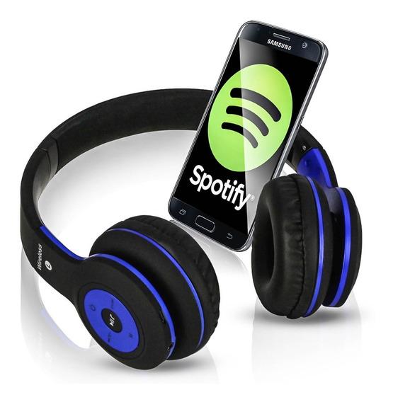 Fone Musica Bluetooth Headphone Celular Sd Rádio Fm Pc
