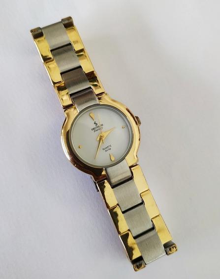 Relógio De Pulso Seculus Eternity Folheado A Ouro