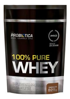 100% Pure Whey Refil 825g Probiótica Sabor Morango