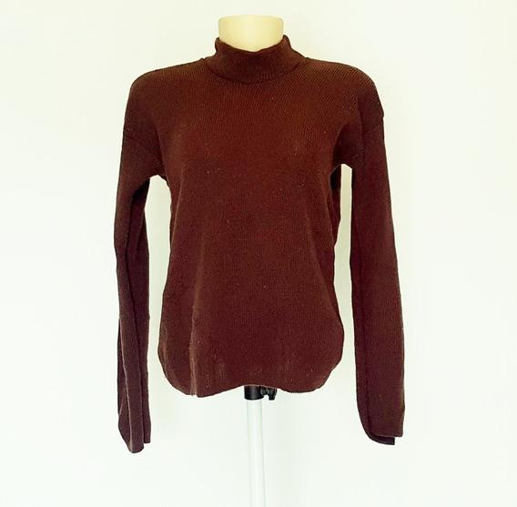 Suéter Feminina Blusa Marrom Pro Frio Lãzinha Elastano Usado