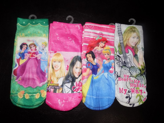 Medias Disney Princesas Dora Hello Kitty Hanna Niñas 8 Pack
