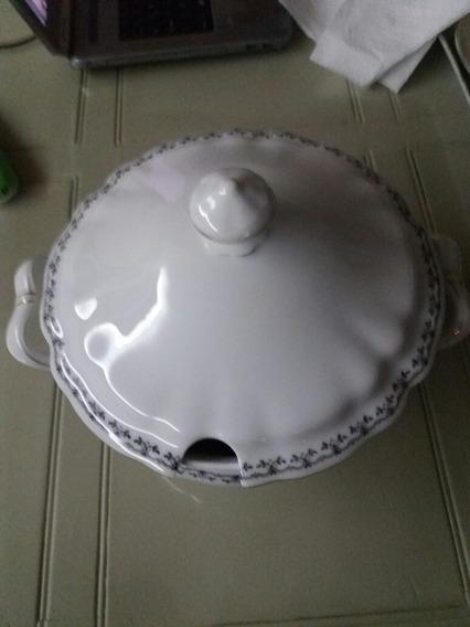 Antigua Sopera Alemana Porcelana De Bavaria. Sello Original
