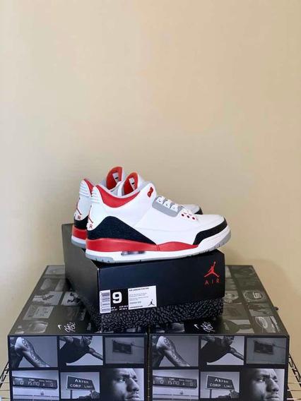 Tenis Jordan Retro 3 Fire Red