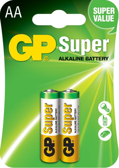20 Pilhas Aa 2a C/2 Alcalina Gp Super - 10 Cartelas C/2 Un