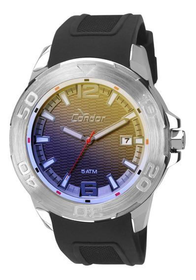 Relógio Masculino Condor Silicine Preto Co2415al8c