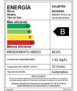Calefont Ionizado Mademsa Vitality 10eco Gl