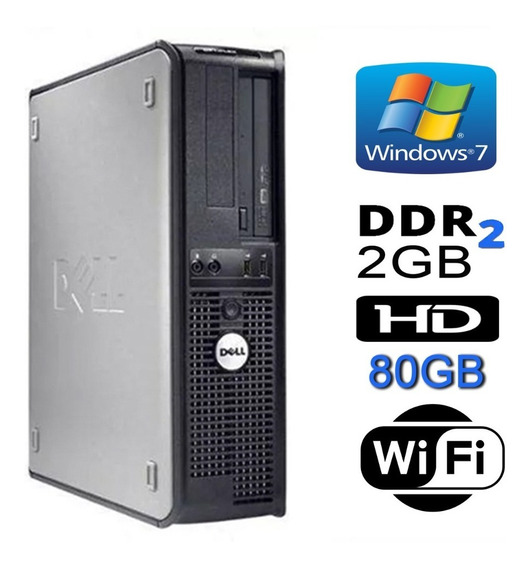 Cpu Dell Optiplex Intel Core 2 Duo 2gb Ddr2 Hd 80gb Só Aqui!