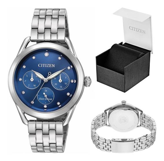 Reloj Citizen 60985 Ecodrive Fd2050-53l Dama Ext Acero Full