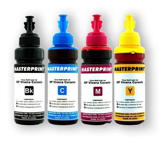 Tinta Refil Para Bulk Ink Epson 4 Cores 100ml Masterprint