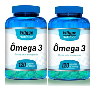 Kit 2 Ômega 3 120 Cápsulas De 1000mg