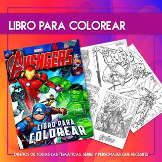 Libro Para Colorear Los Vengadores En Mercado Libre Argentina