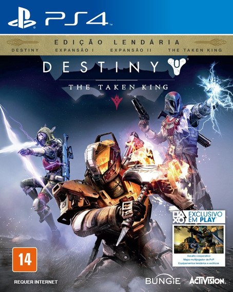Jogo Destiny The Taken King Playstation 4 Ps4 Mídia Física